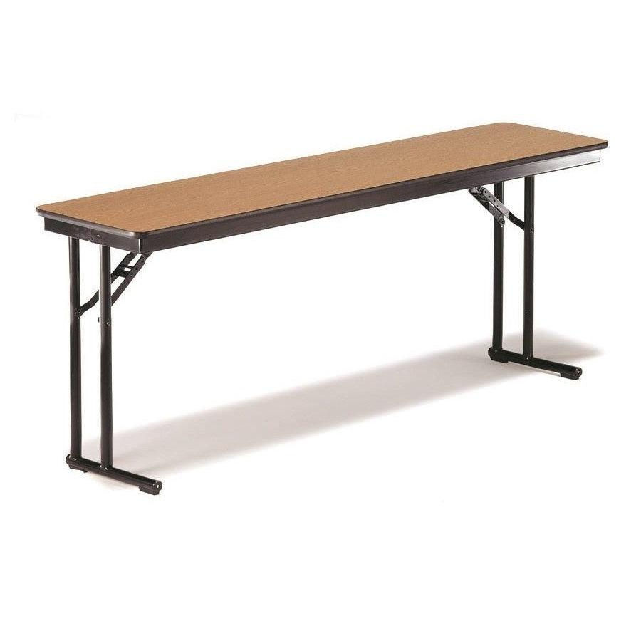 "Comfort Leg Folding Training Table with High Pressure Laminate Top, Particleboard Core, 18""W x 60""L x 30""H"