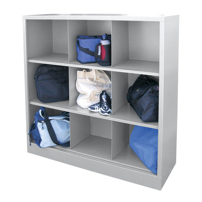 Cubby Storage Organizer, 9 Sections, 46 x 18 x 52, Dove Gray