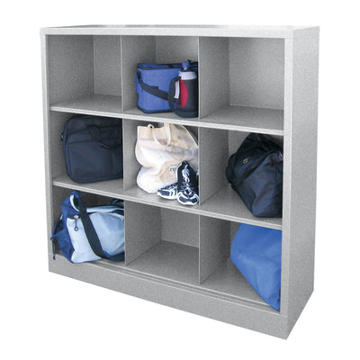 Cubby Storage Organizer, 9 Sections, 46 x 18 x 52, Multi Granite