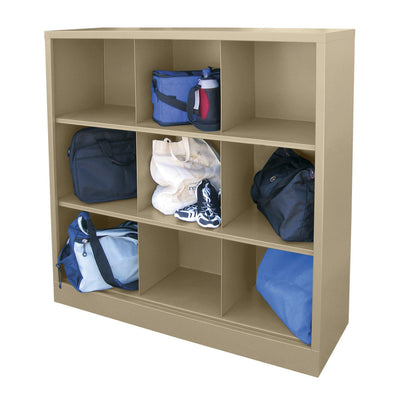 Cubby Storage Organizer, 9 Sections, 46 x 18 x 52, Tropic Sand