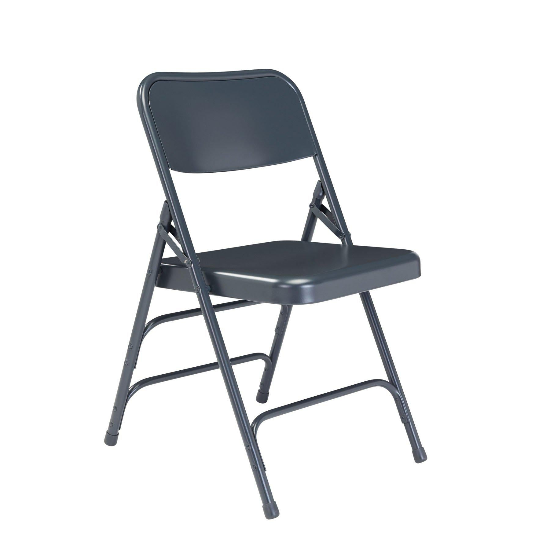 Deluxe All-Steel Triple Brace Double Hinge Folding Chair