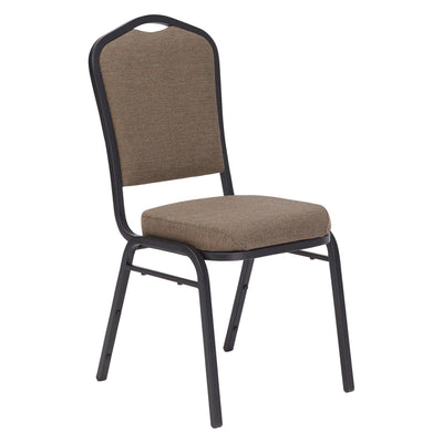 Deluxe Upholstered Silhouette Stack Chair-Chairs-Natural Taupe Fabric/Black Sandtex Frame-