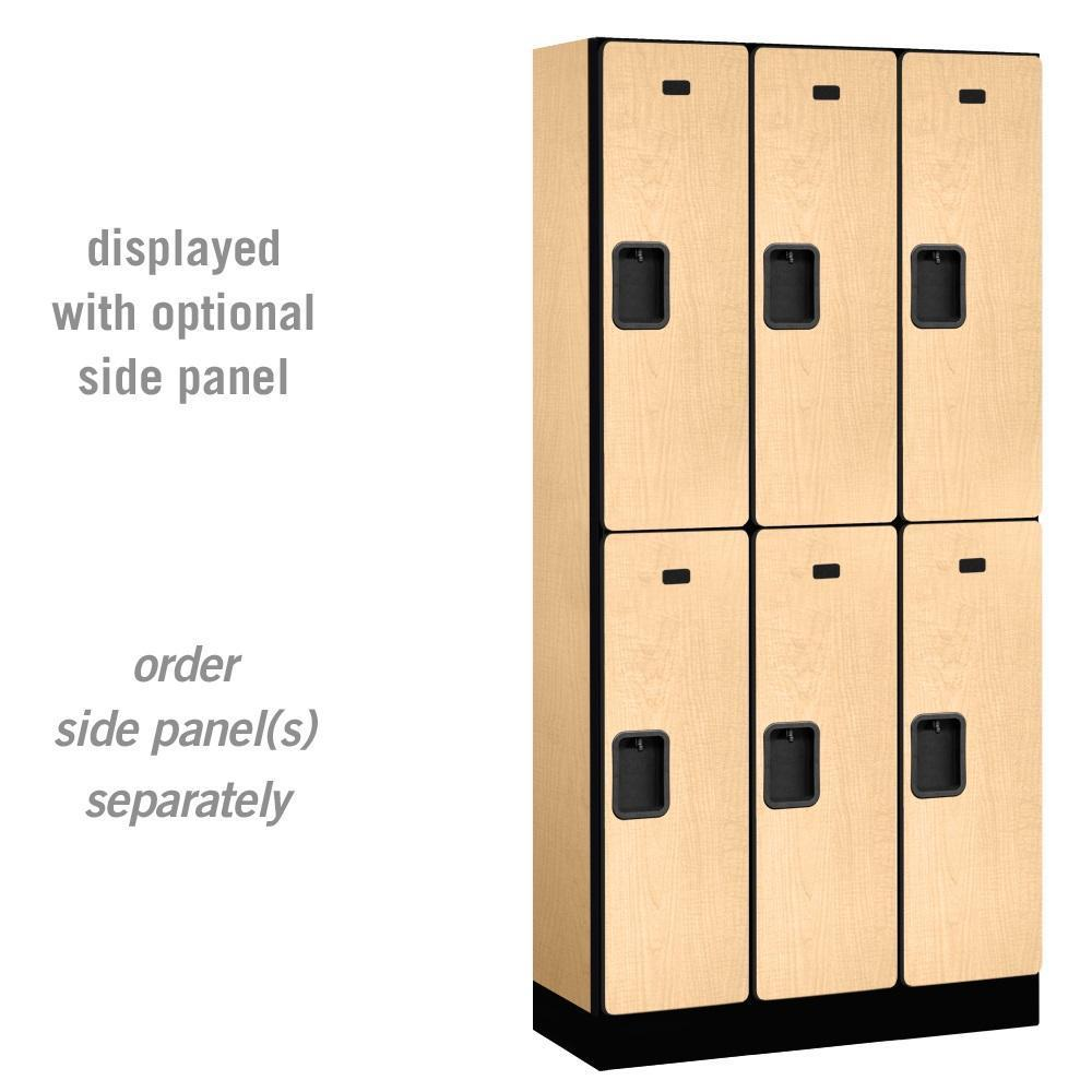 "Designer Wood Lockers, 12""-Wide Double Tier, 6 Feet High, 15"" Deep"