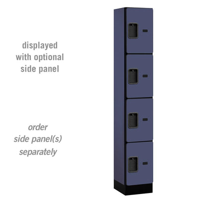 "Designer Wood Lockers, 12""-Wide Four Tier, 6 Feet High, 15"" Deep-Lockers-1 Wide-Blue-"