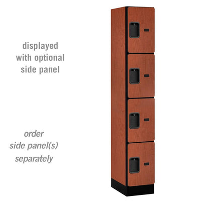"Designer Wood Lockers, 12""-Wide Four Tier, 6 Feet High, 15"" Deep-Lockers-1 Wide-Cherry-"
