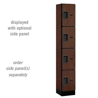 "Designer Wood Lockers, 12""-Wide Four Tier, 6 Feet High, 15"" Deep-Lockers-1 Wide-Mahogany-"
