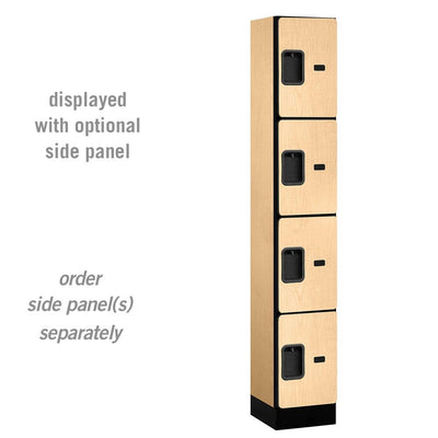 "Designer Wood Lockers, 12""-Wide Four Tier, 6 Feet High, 15"" Deep-Lockers-1 Wide-Maple-"
