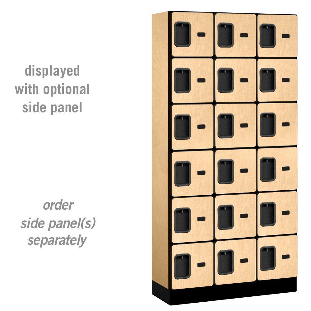 "Designer Wood Lockers, 12""-Wide Six-Tier Box Style, 6 Feet High, 15"" Deep"