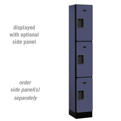 "Designer Wood Lockers, 12""-Wide Triple Tier, 6 Feet High, 15"" Deep-Lockers-1 Wide-Blue-"