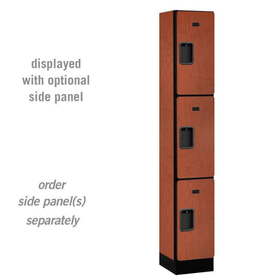 "Designer Wood Lockers, 12""-Wide Triple Tier, 6 Feet High, 15"" Deep-Lockers-1 Wide-Cherry-"