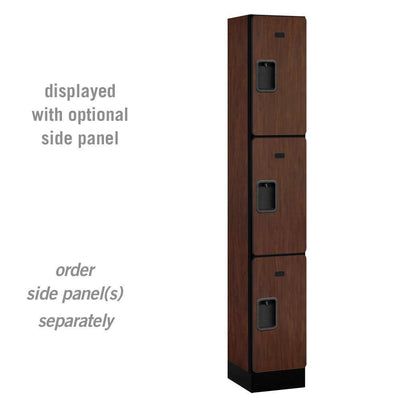 "Designer Wood Lockers, 12""-Wide Triple Tier, 6 Feet High, 15"" Deep-Lockers-1 Wide-Mahogany-"