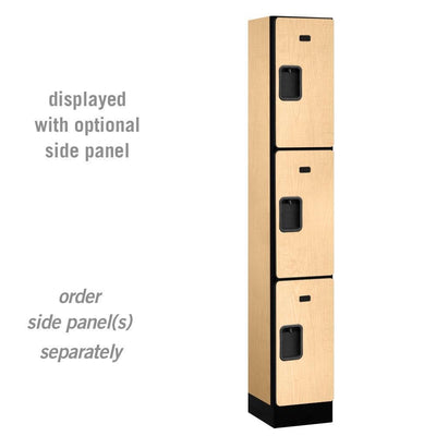 "Designer Wood Lockers, 12""-Wide Triple Tier, 6 Feet High, 15"" Deep-Lockers-1 Wide-Maple-"