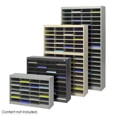 E-Z Stor® Literature Organizer, 60 Letter Size Compartments, Gray