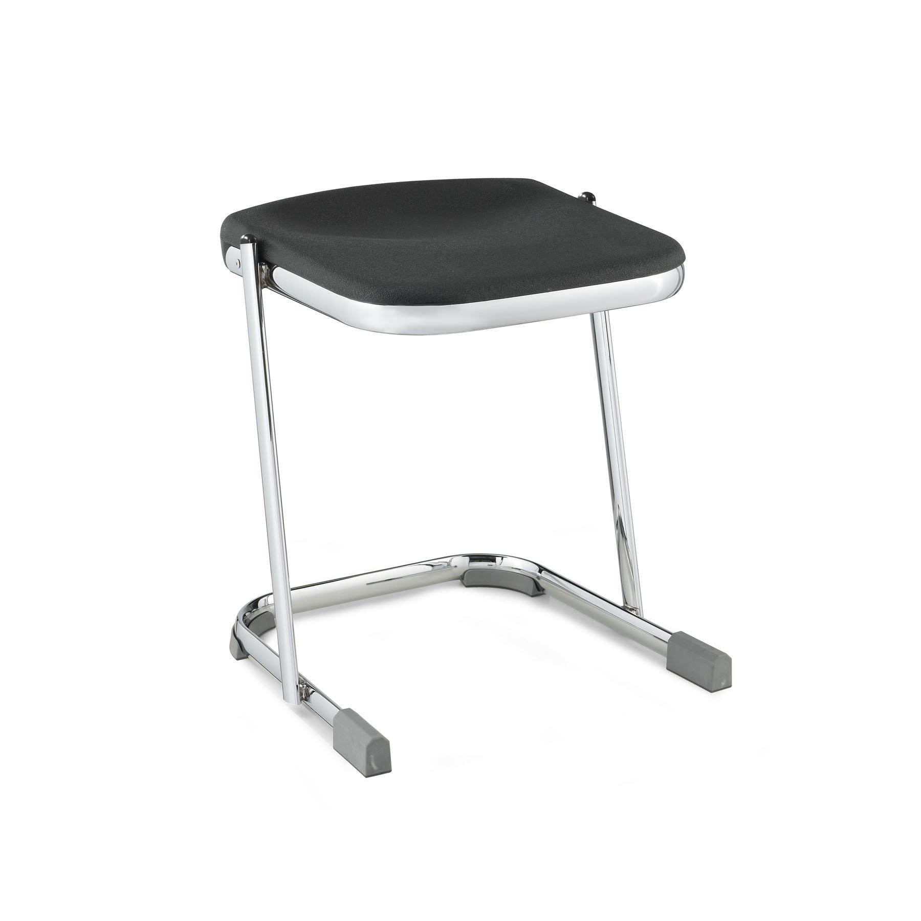 "Elephant Z-Stool, Black Seat and Chrome Frame-Stools-18""-"