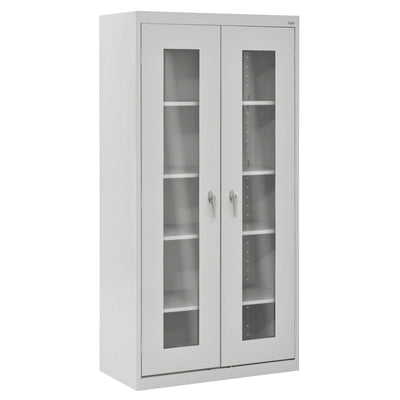 Elite Series Clear View See Thru Storage Cabinet, 36 x 18 x 72, Dove Gray