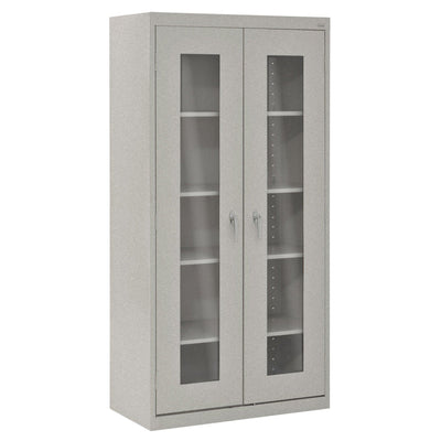 Elite Series Clear View See Thru Storage Cabinet, 36 x 18 x 72, Multi Granite