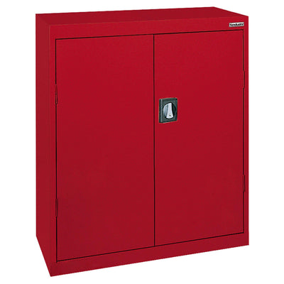 Elite Series Counter Height Storage Cabinet, 46 x 24 x 42, Red