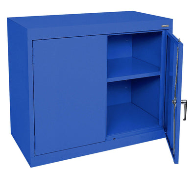 Elite Series Desk Height Storage Cabinet, 36 x 18 x 30, Blue