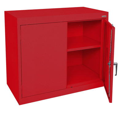 Elite Series Desk Height Storage Cabinet, 36 x 18 x 30, Red