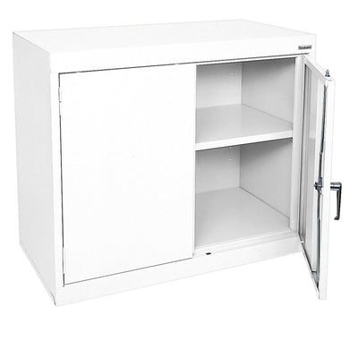 Elite Series Desk Height Storage Cabinet, 36 x 18 x 30, White