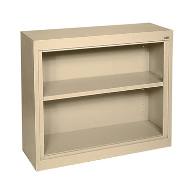 Elite Series Welded Steel Bookcase, 1 shelf and Bottom Shelf, 36 x 18 x 30, Tropic Sand
