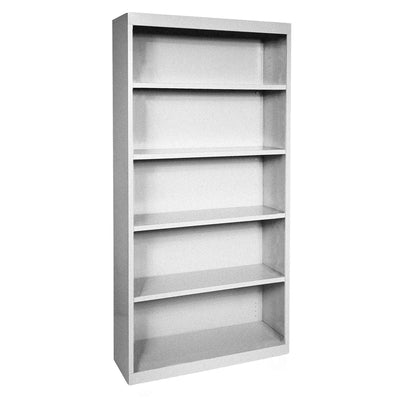 Elite Series Welded Steel Bookcase, 4 Shelves and Bottom Shelf, 36 x 18 x 72, Multi Granite