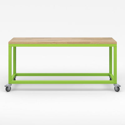 Explorer Series Cargo Cart-Tables-Full Top-Plain, No Storage-Green Apple