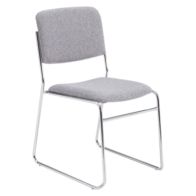 Fabric Padded Signature Stack Chair-Chairs-Classic Grey-