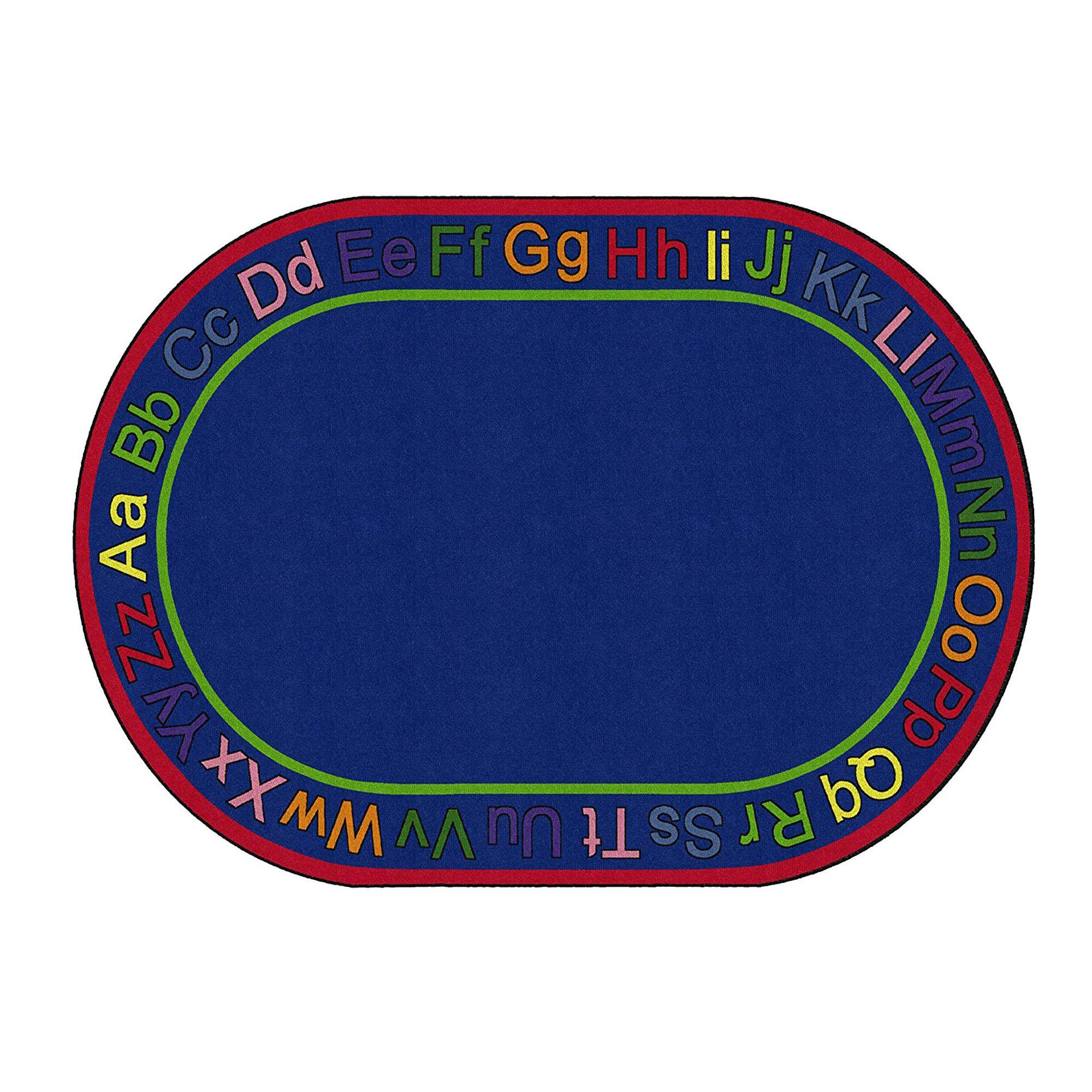 "Know Your ABC's Rug, Oval, 7' 6"" x 12'"