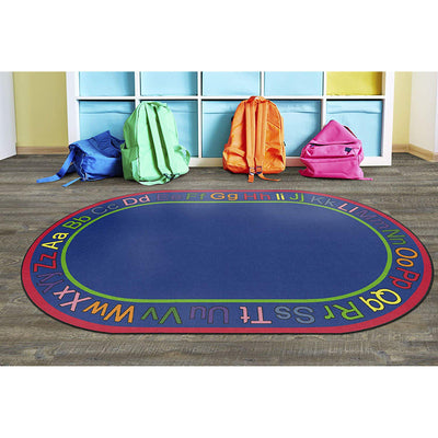 "Know Your ABC's Rug, Oval, 5' 10"" x 8' 4"""