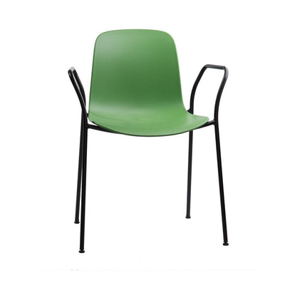 Flux 4 Leg Stacking Arm Chair with Black Frame