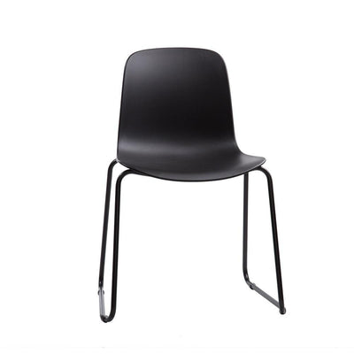 Flux Sled Base Stacking Chair with Black Frame