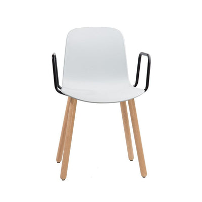 Flux Arm Chair with Wood Legs