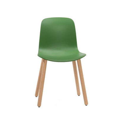 Flux Armless Chair with Wood Legs