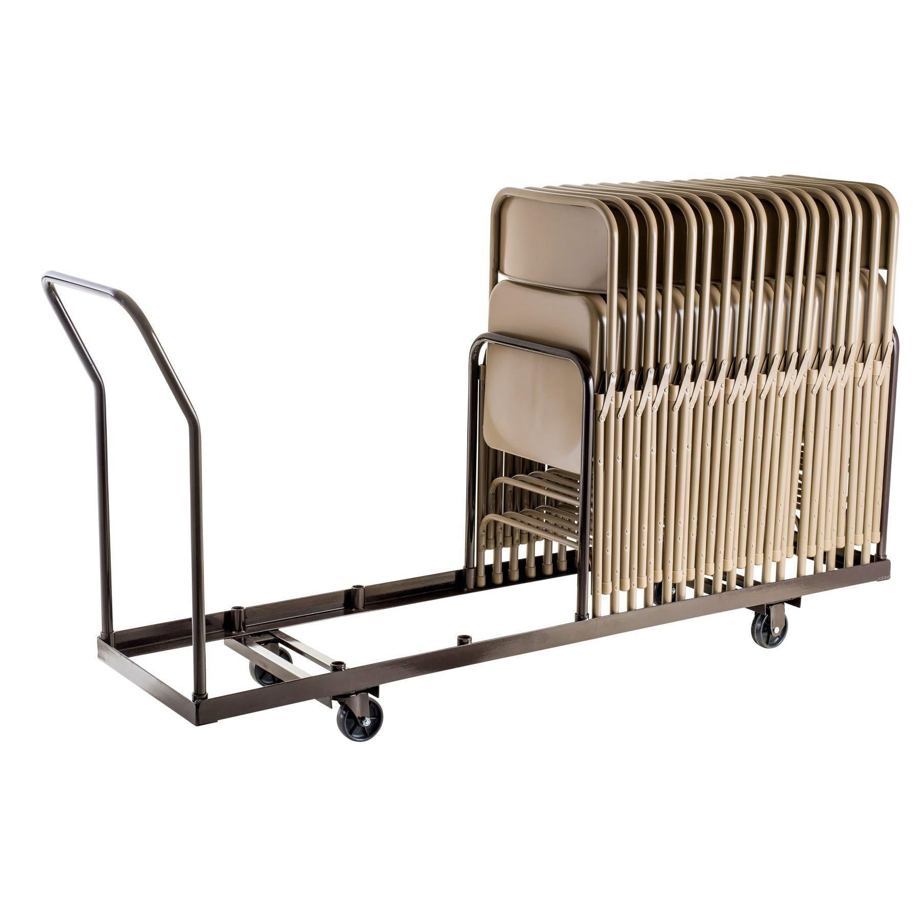 Folding Chair Dolly For Vertical storage, 35 Chair Capacity-Chairs-