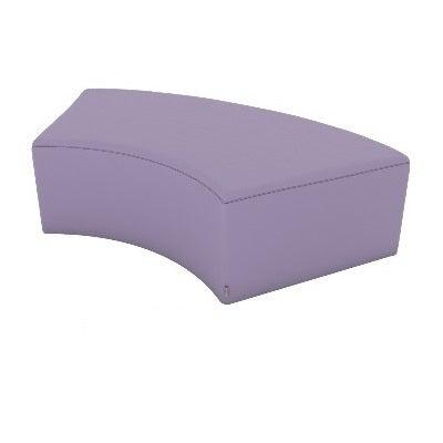 Fomcore Armless Series Curved Bench 60 with 100% ALL-FOAM CORE, Antibacterial Vinyl Seat with Patterned Vinyl Sides, LIFETIME WARRANTY