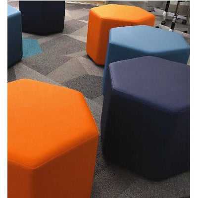 Fomcore Ottoman Series Honeycomb with 100% ALL-FOAM CORE, Antibacterial Vinyl Upholstery, LIFETIME WARRANTY