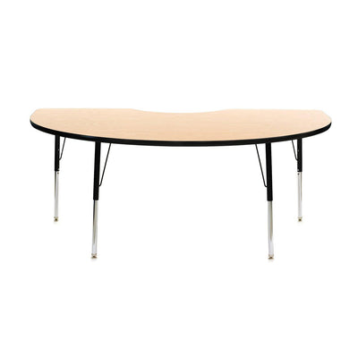 "8400 Series Adjustable Height Kidney-Shaped Activity Table with Low-Pressure Laminate Top 48"" x 96"""