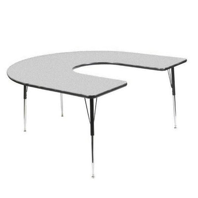 "8400 Series Adjustable Height Horseshoe Activity Table with Low-Pressure Laminate Top 60"" x 66"""