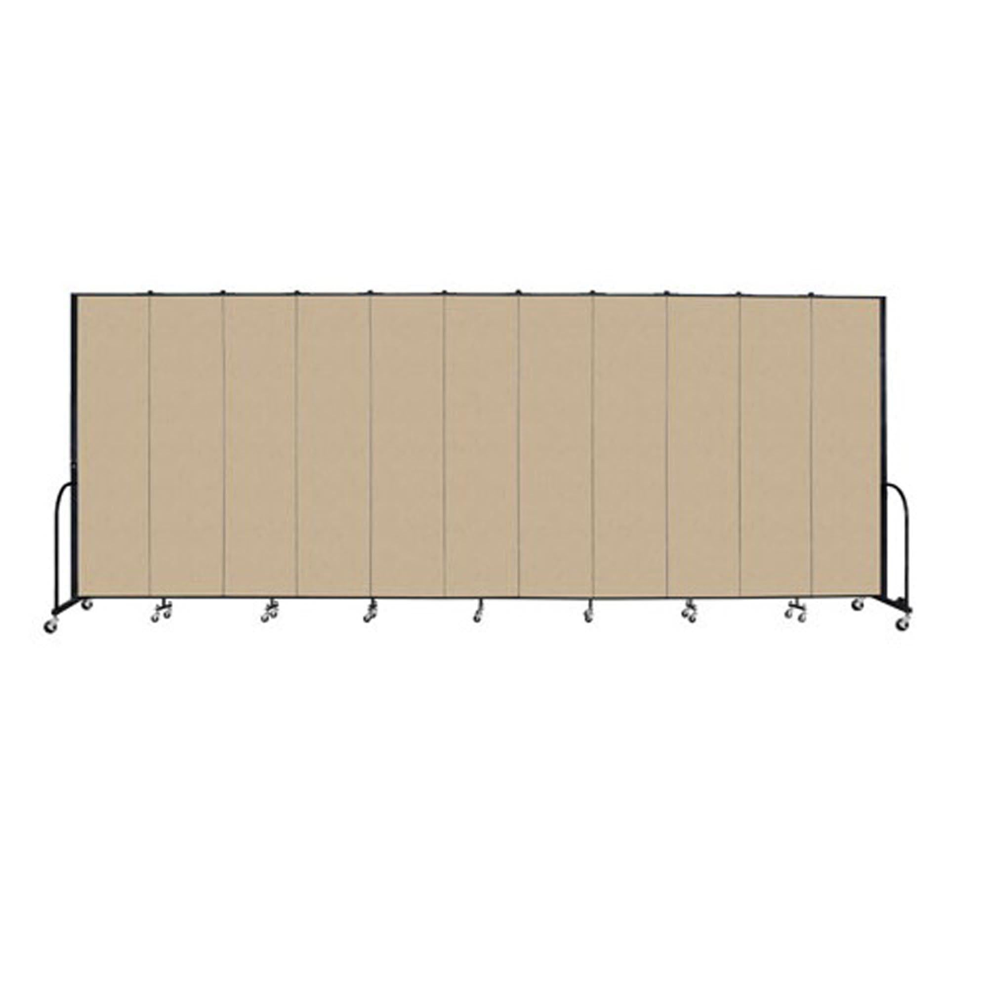 "Screenflex FREEstanding Vinyl Portable Partition - 8'H x 20' 5""L - 11 Panels"