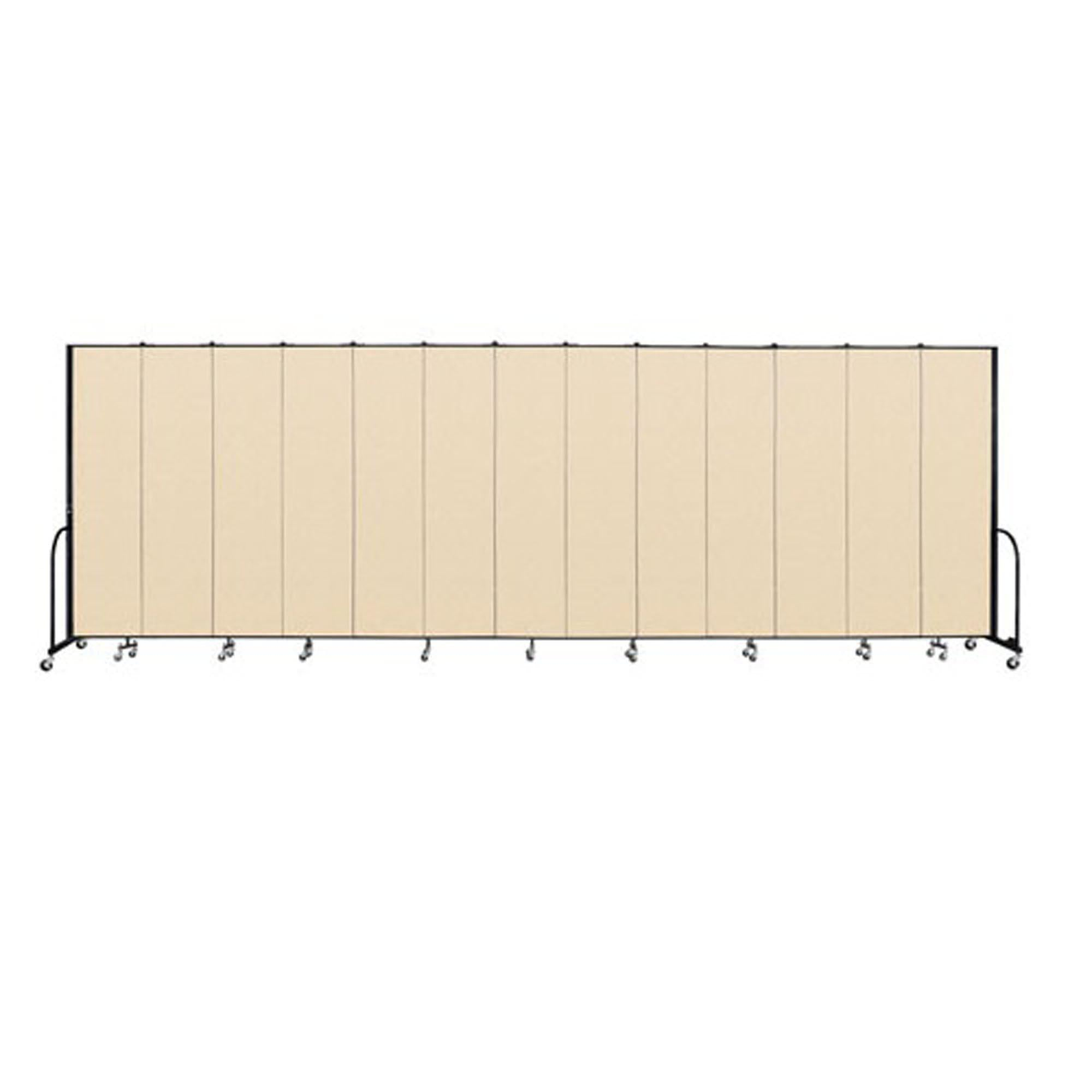"Screenflex FREEstanding Vinyl Portable Partition - 8'H x 24' 1""L - 13 Panels"