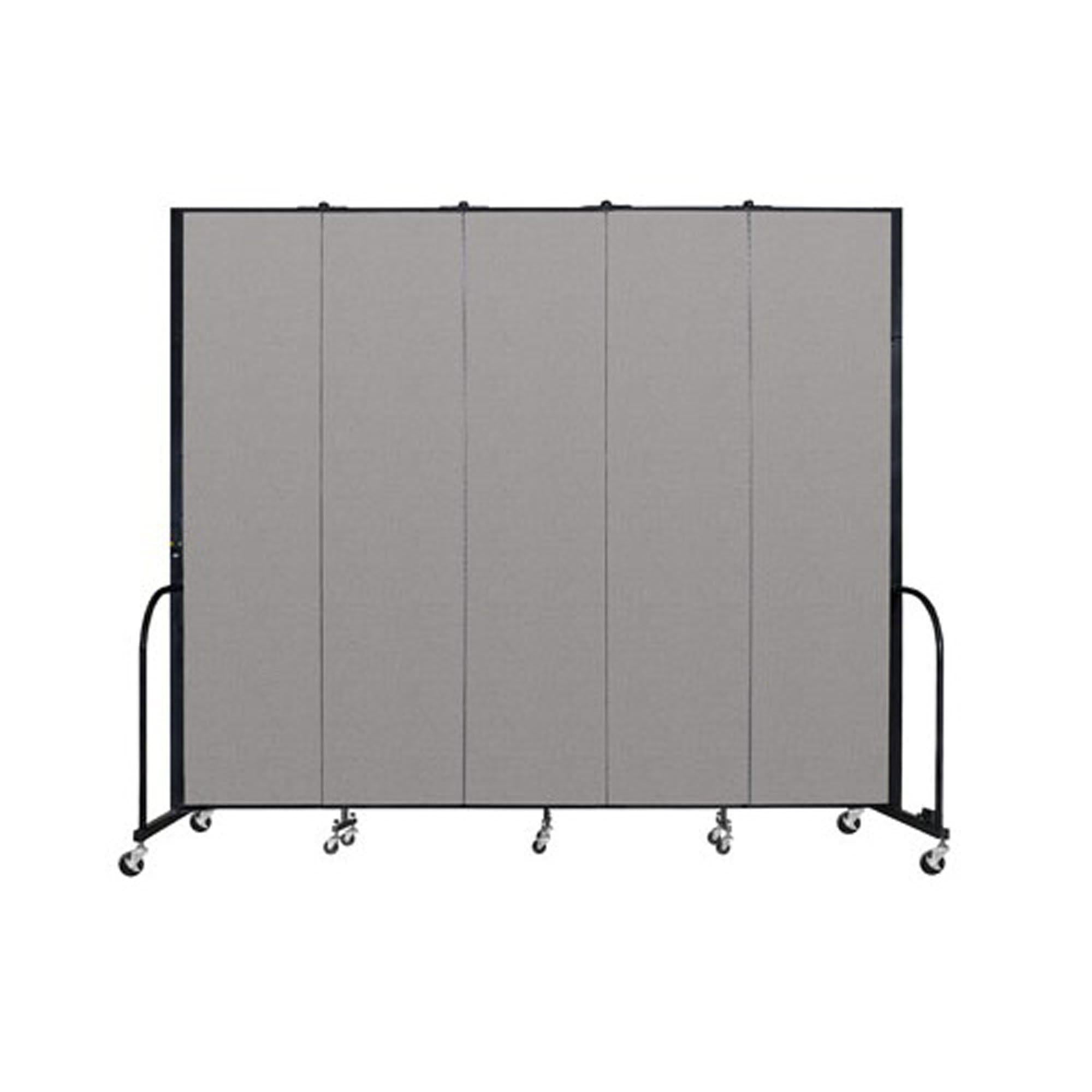"Screenflex FREEstanding Vinyl Portable Partition - 8'H x 9' 5""L - 5 Panels"