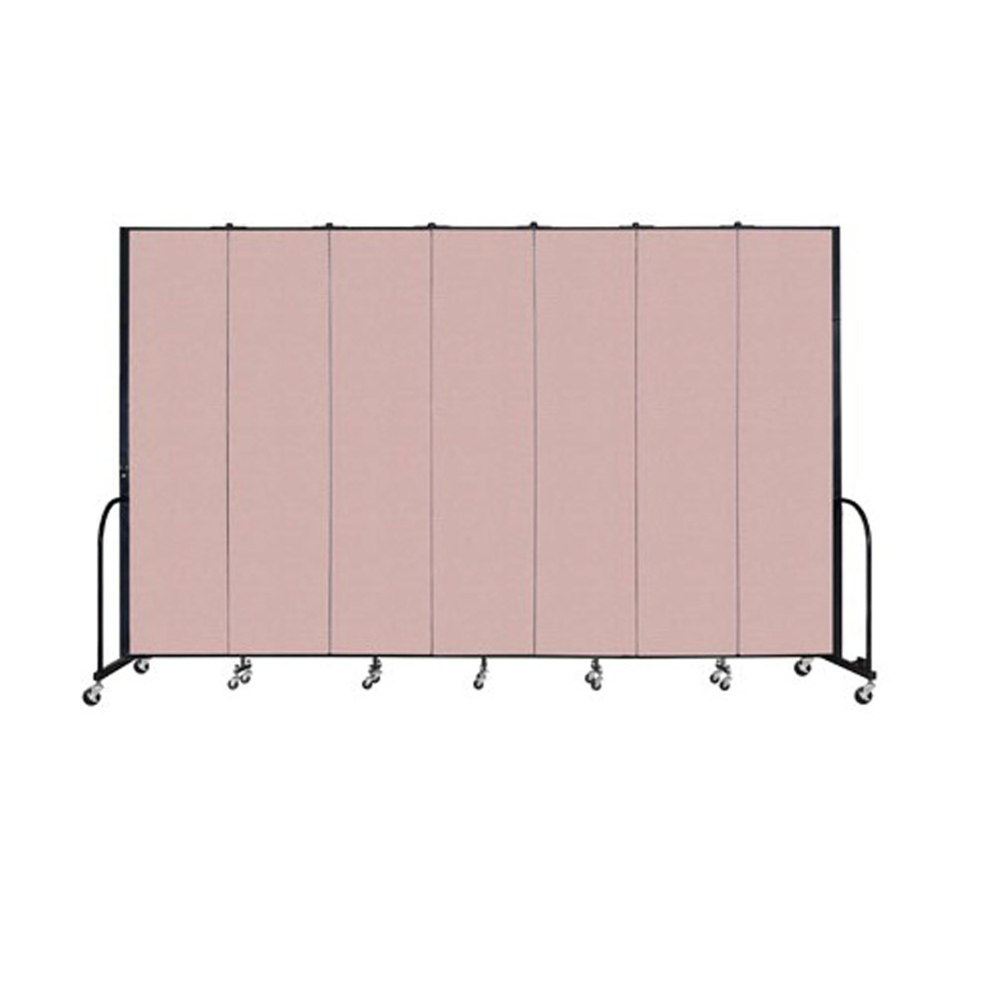 "Screenflex FREEstanding Vinyl Portable Partition - 8'H x 13' 1""L - 7 Panels"