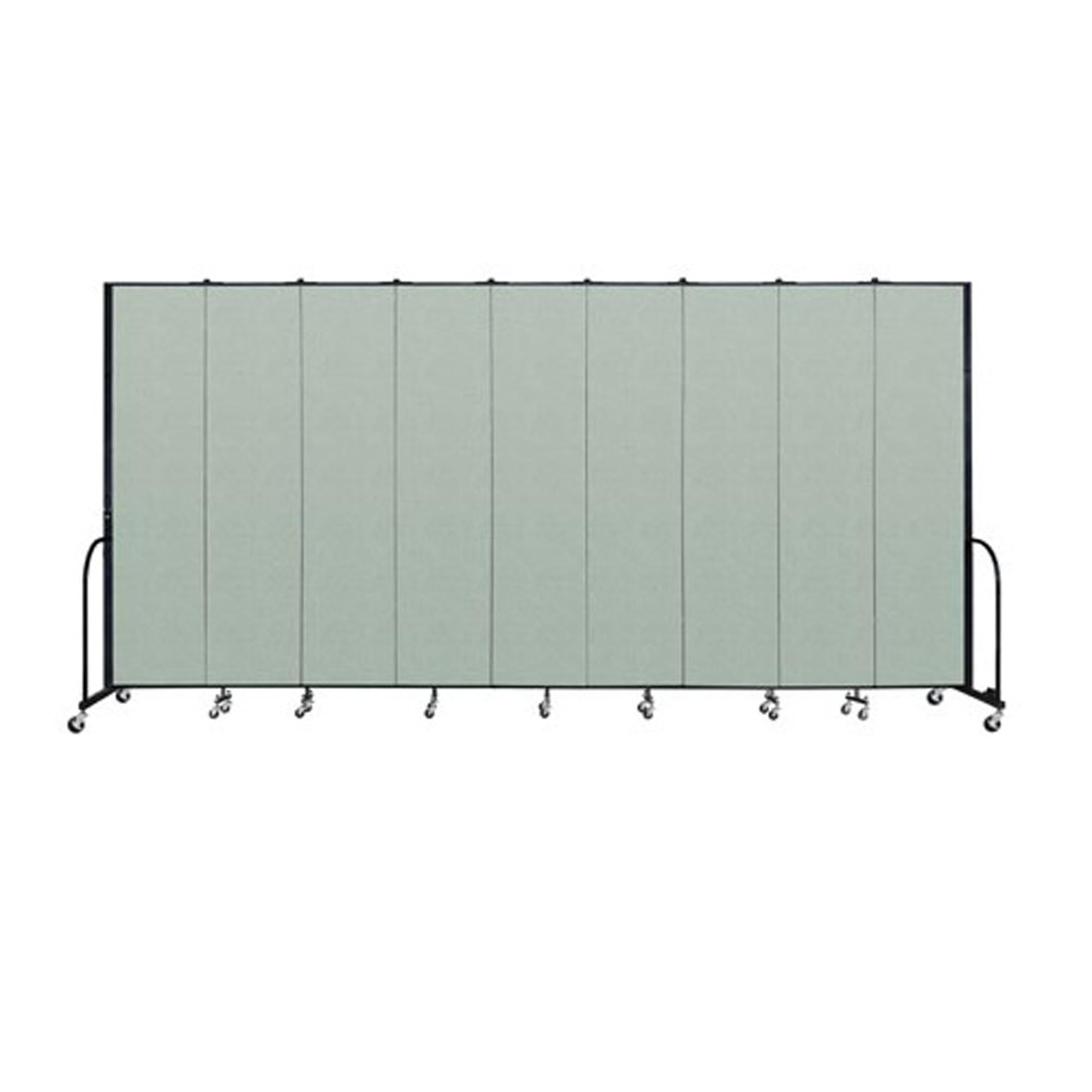 "Screenflex FREEstanding Vinyl Portable Partition - 8'H x 16' 9""L - 9 Panels"