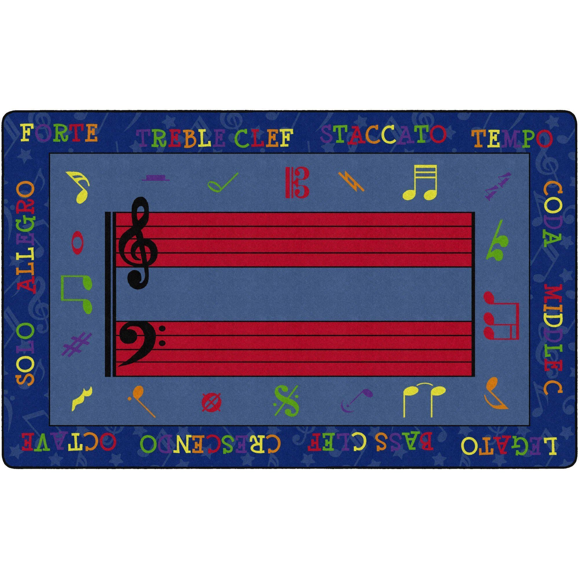 Fun With Music Rugs-Classroom Rugs & Carpets-