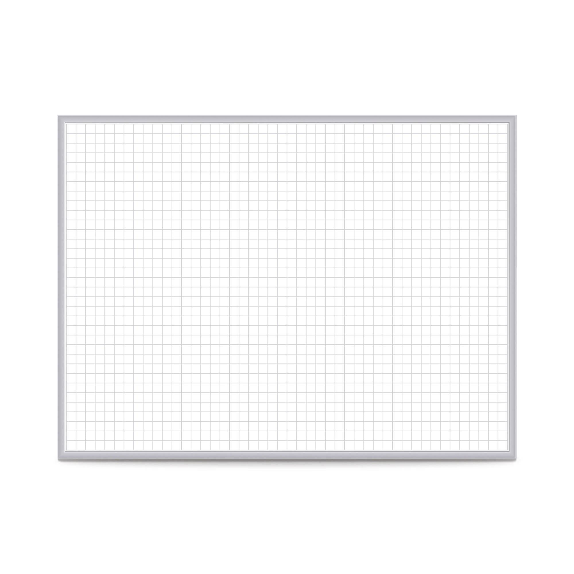 "Graphics Grid Whiteboard-Boards-Non-Magnetic-2'H x 3'W-1"" x 1"""