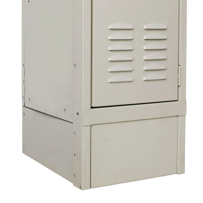 "Hallowell Closed Front Base-Lockers-12"" W x 6"" H-Parchment-"