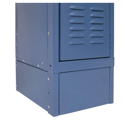 "Hallowell Closed Side Base-Lockers-12"" D x 6"" H-Marine Blue-"