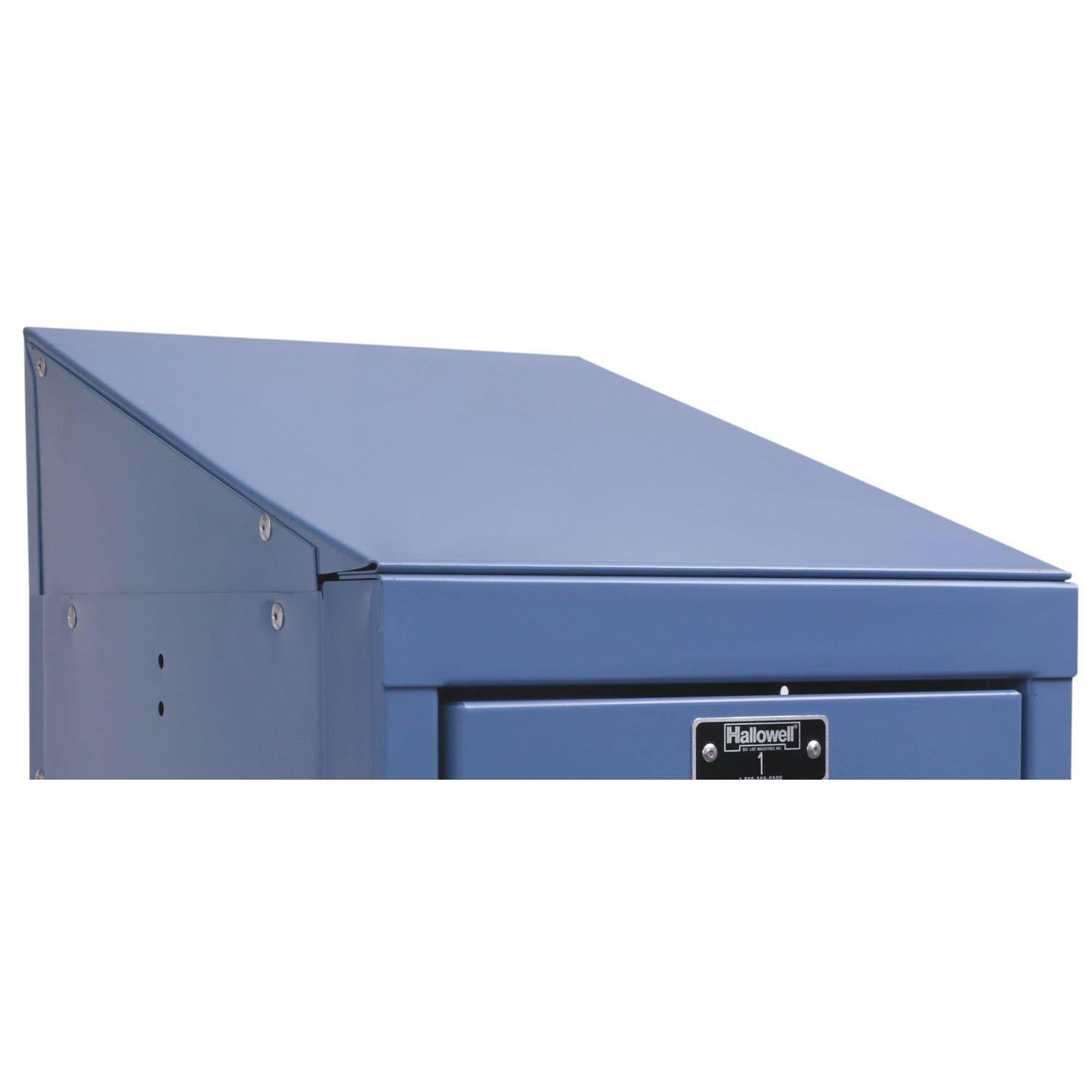 "Hallowell Individual Slope Top-Lockers-12""W x 12""D x 4""H-Marine Blue-"