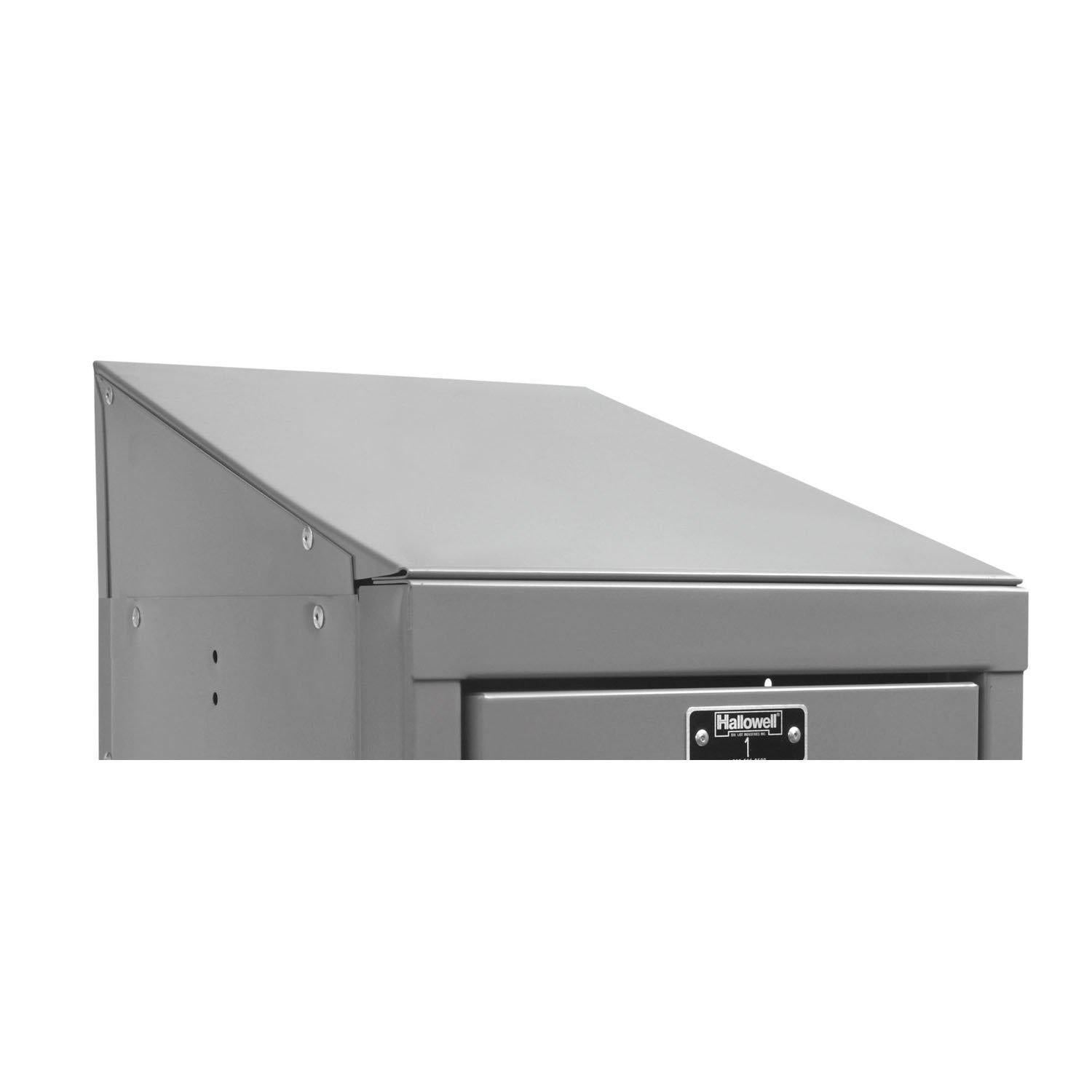 "Hallowell Slope Top End Closure-Lockers-12""D x 4""H-Hallowell Gray-"
